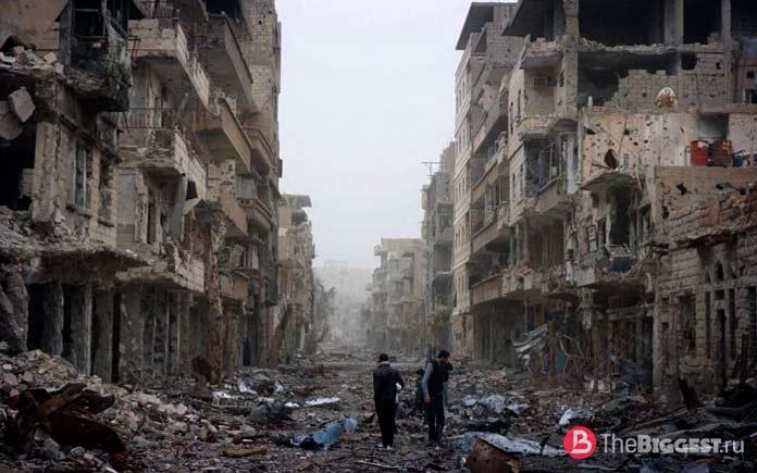 Сирийский город в руинах