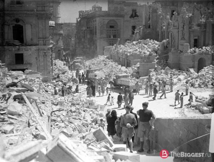 Города, разрушенные войной: Валлетта