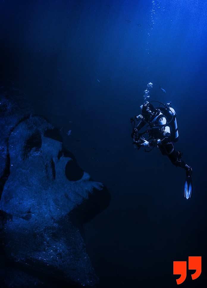 Аквалангист-дайвер, который покоряет самые глубокие моря и океаны. CC0