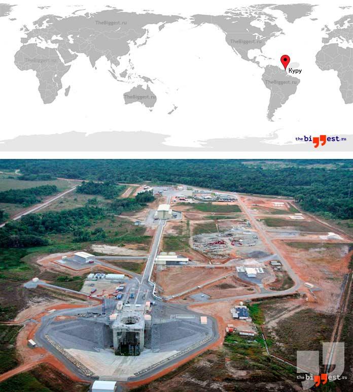 Самые крупные космодромы: Куру. CC0