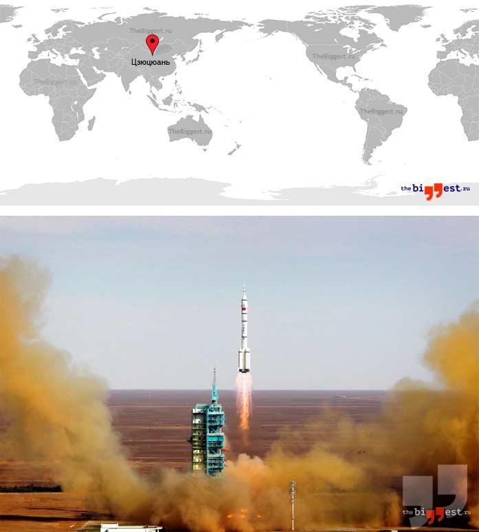 Самые активные космодромы: Цзюцюань