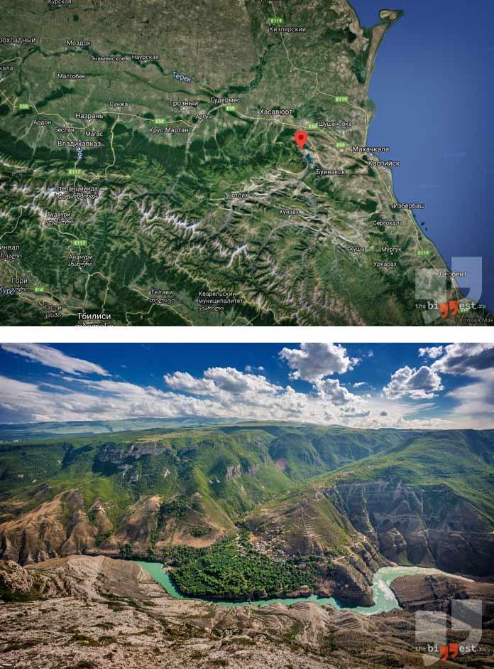 Самые глубокие каньоны мира: Сулакский каньон