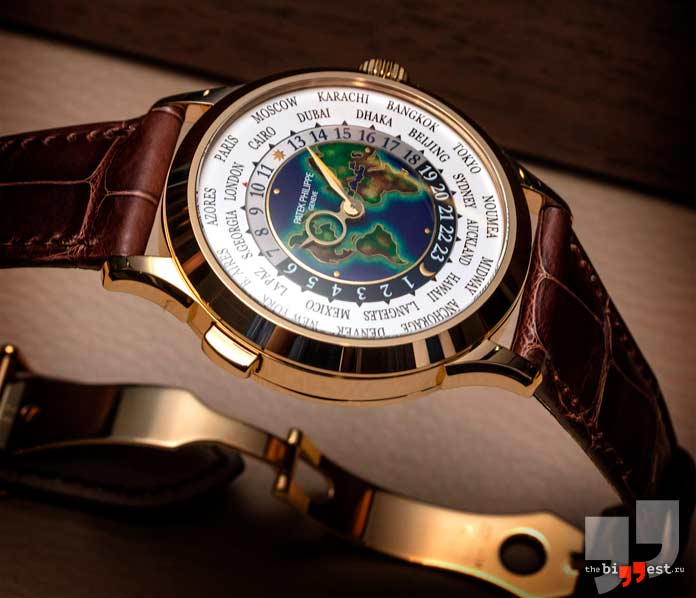 Очень дорогие часы: Patek Philippe Platinum World Time