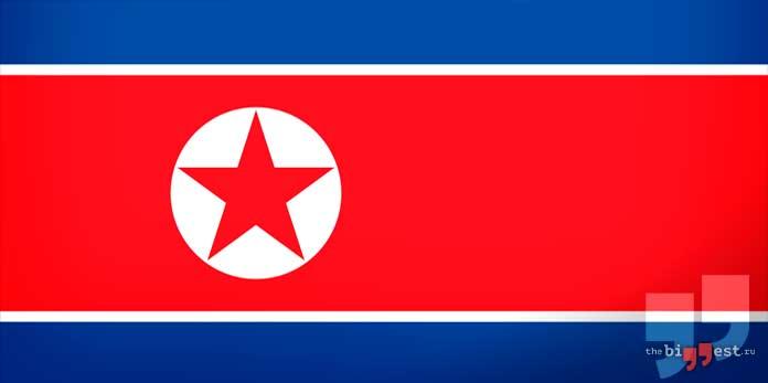 Самые коррумпированные страны мира: Северная Корея флаг. CC0