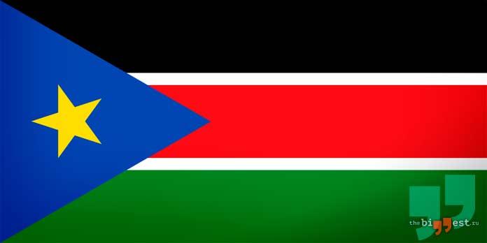 Южный Судан флаг. CC0