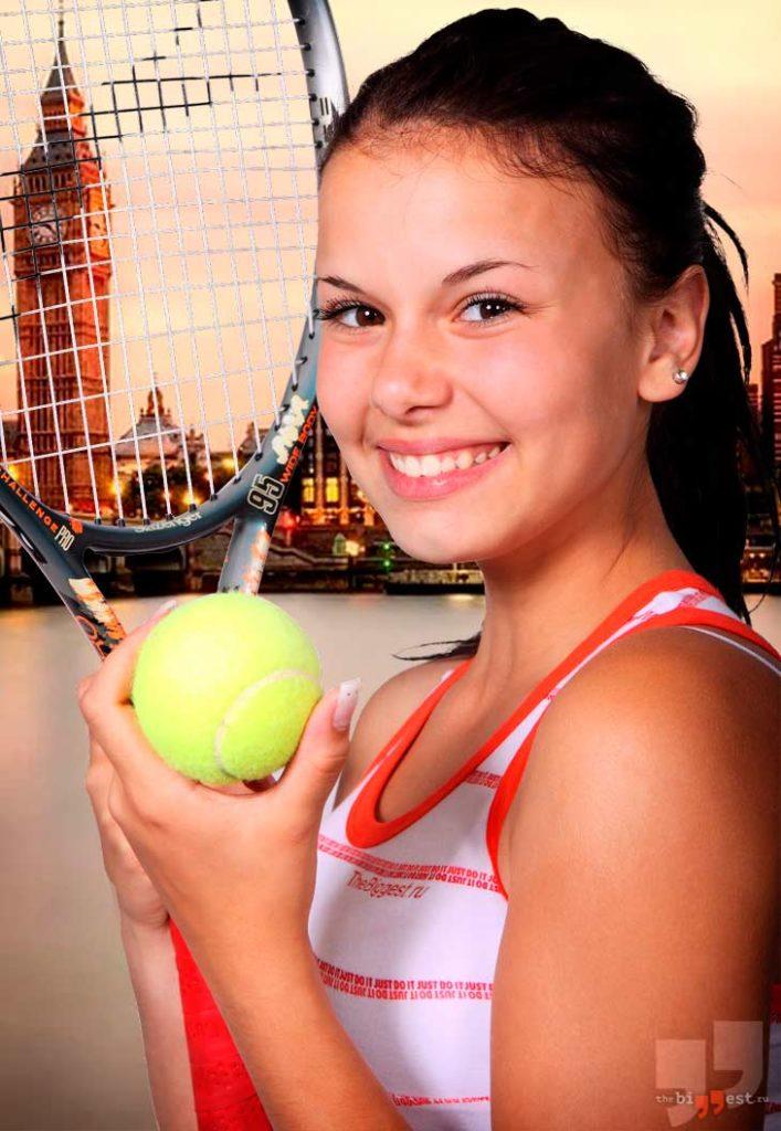 Теннисистка в Лондоне. cC0
